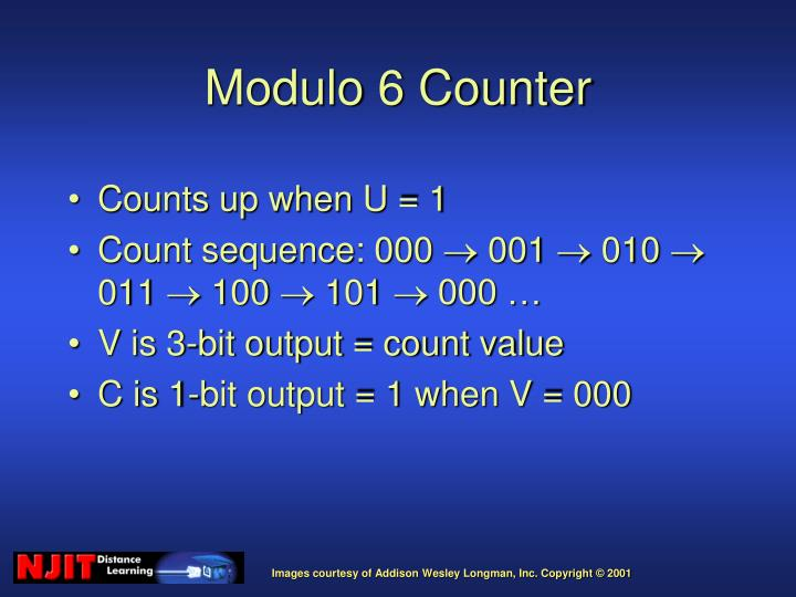 Counts up when U = 1