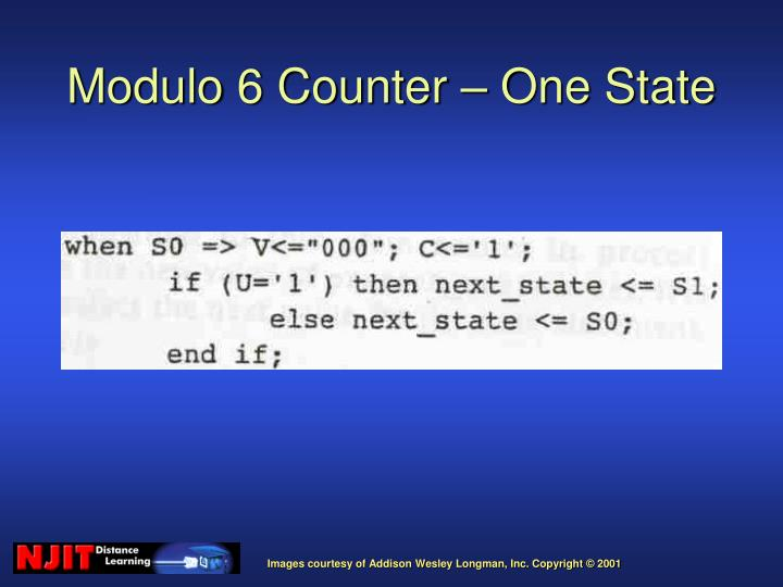 Modulo 6 Counter – One State