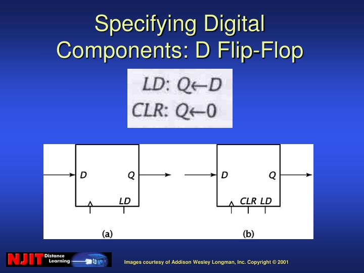Specifying Digital Components: D Flip-Flop