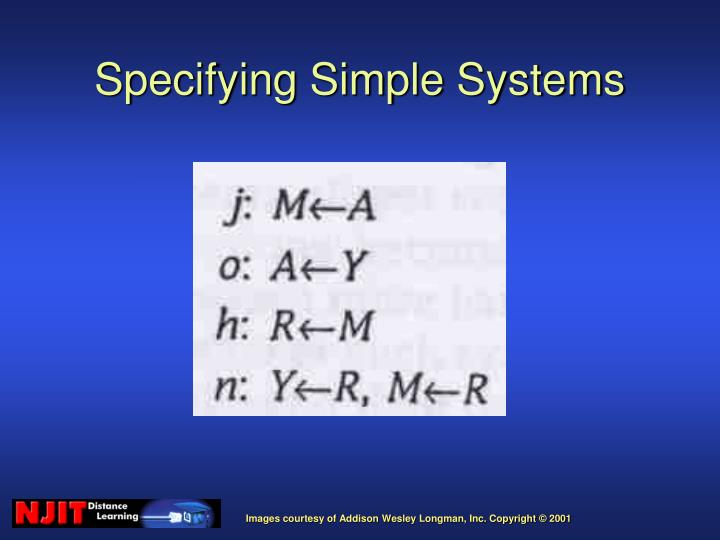 Specifying Simple Systems