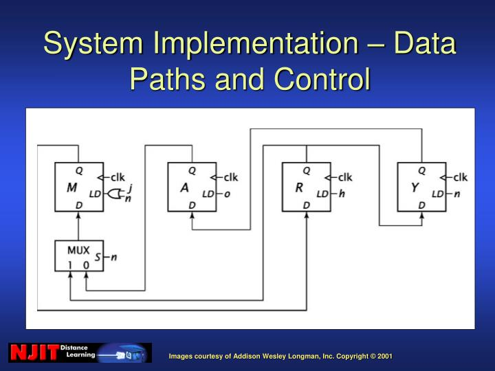 System Implementation – Data Paths and Control