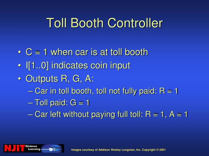 C = 1 when car is at toll booth