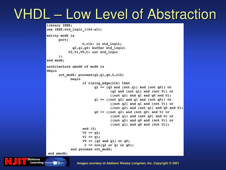 VHDL – Low Level of Abstraction