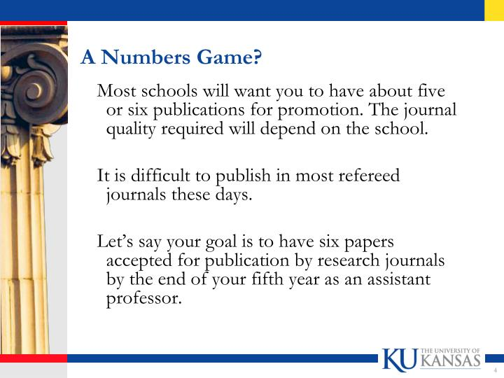 A Numbers Game?