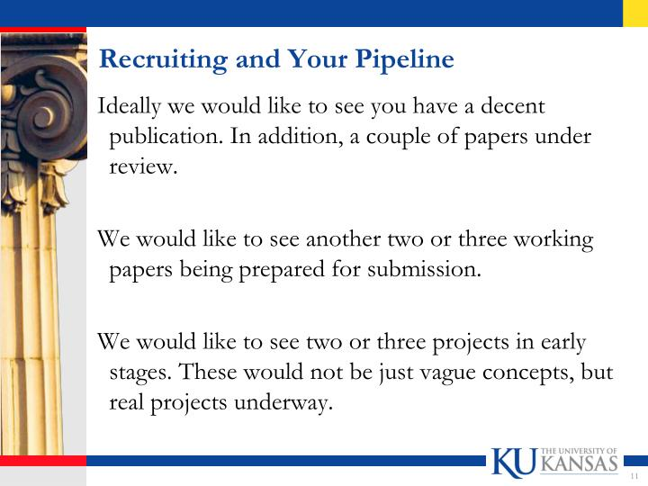 Recruiting and Your Pipeline