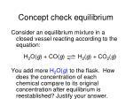 concept check equilibrium