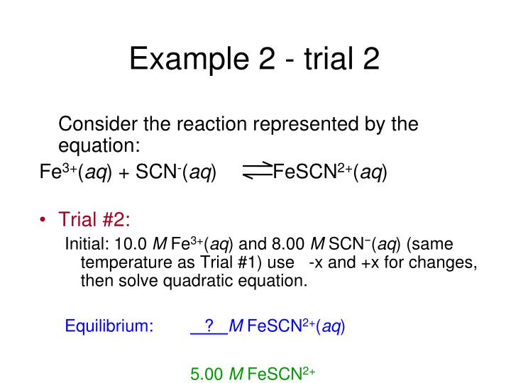 Example 2 - trial 2