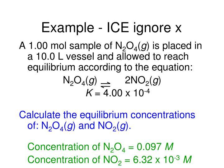 Example - ICE ignore x