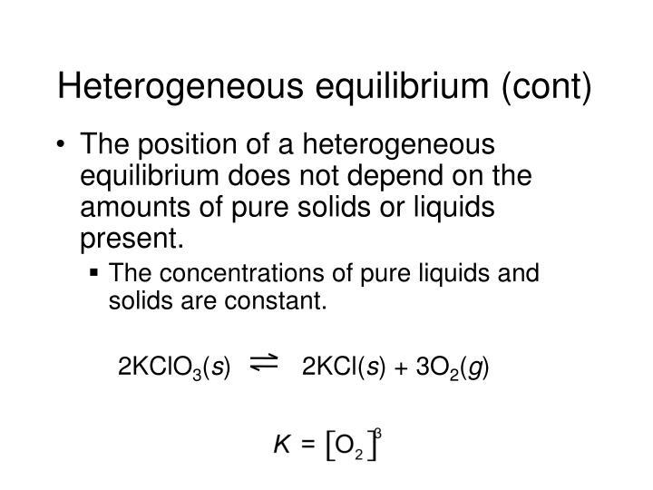 Heterogeneous equilibrium (