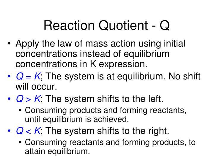 Reaction Quotient - Q