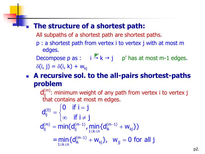 The structure of a shortest path: