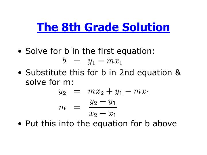 The 8th Grade Solution
