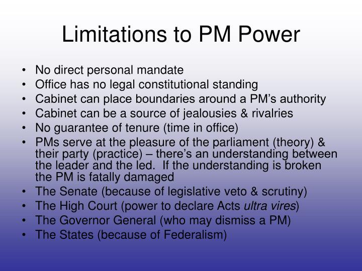 Limitations to PM Power