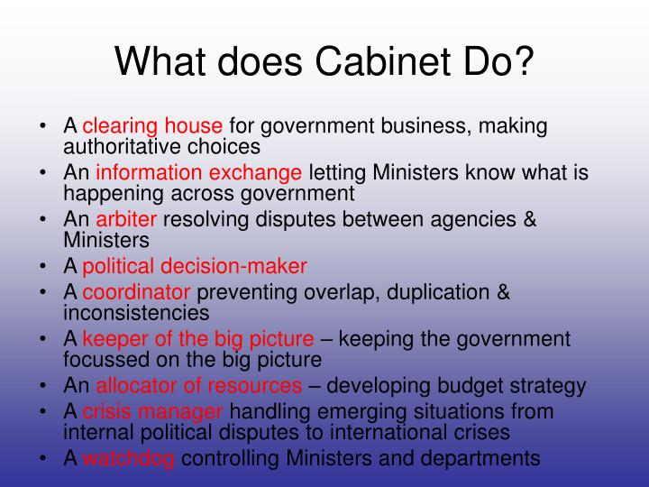 What does Cabinet Do?