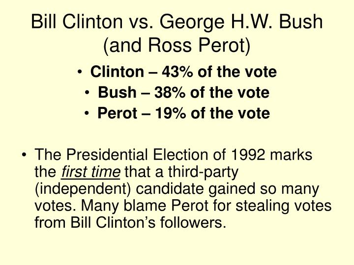 Bill Clinton vs. George H.W. Bush