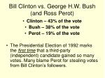 bill clinton vs george h w bush and ross perot