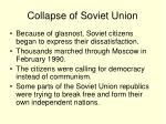 collapse of soviet union