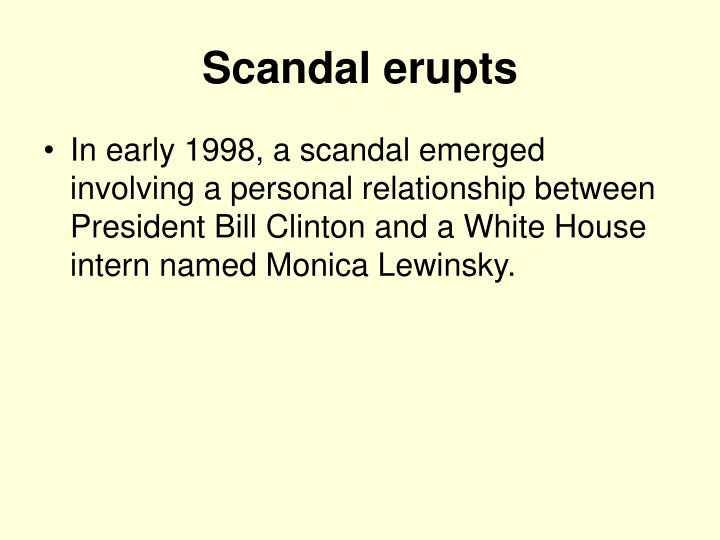 Scandal erupts