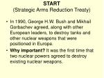 start strategic arms reduction treaty