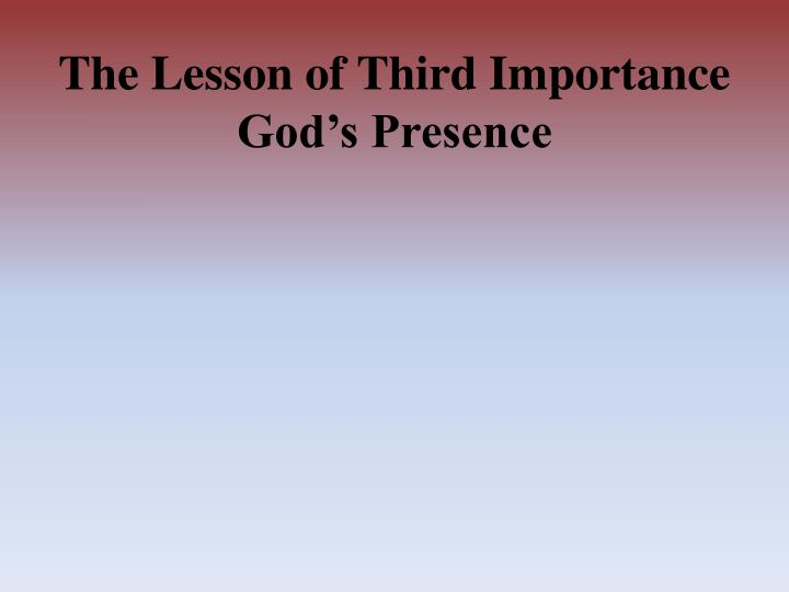 The Lesson of Third