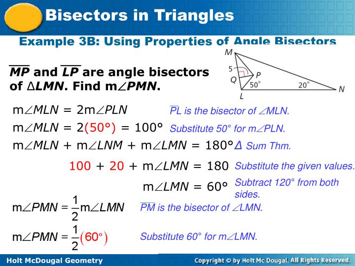 PL is the bisector of