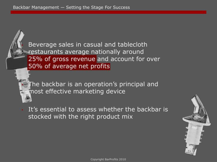 Backbar Management — Setting the Stage For Success