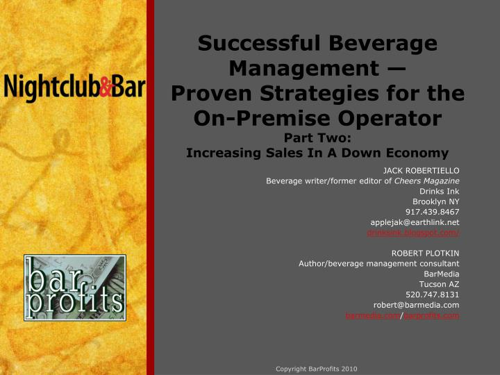 Successful Beverage Management —