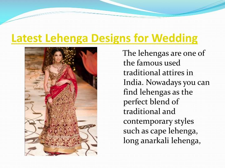 Latest Lehenga Designs for Wedding