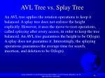 avl tree vs splay tree