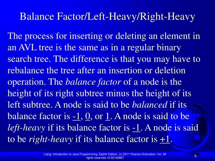Balance Factor/Left-Heavy/Right-Heavy