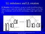 ll imbalance and ll rotation