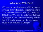 what is an avl tree