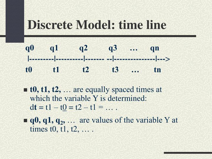 Discrete Model: time line