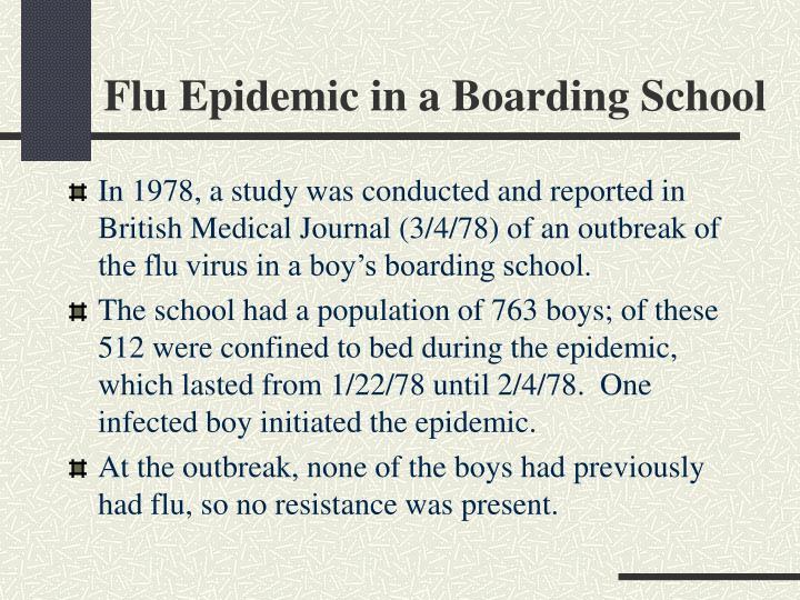 Flu Epidemic in a Boarding School