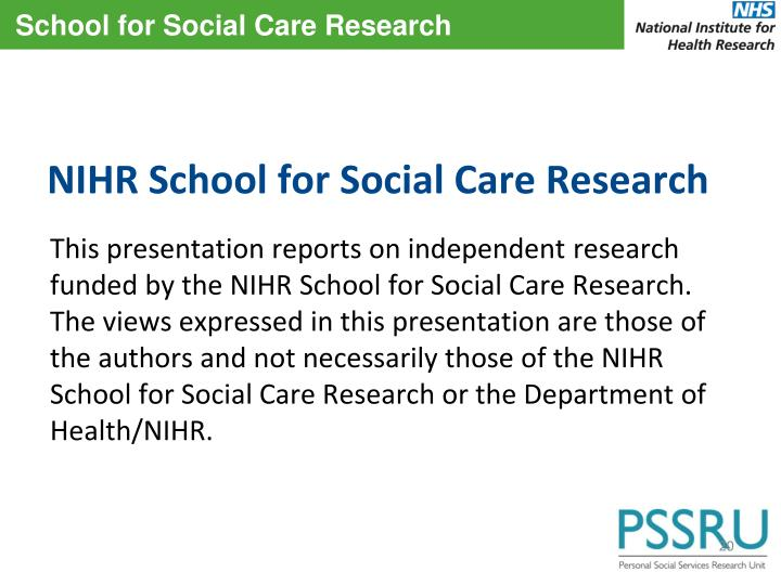 NIHR School for Social Care Research