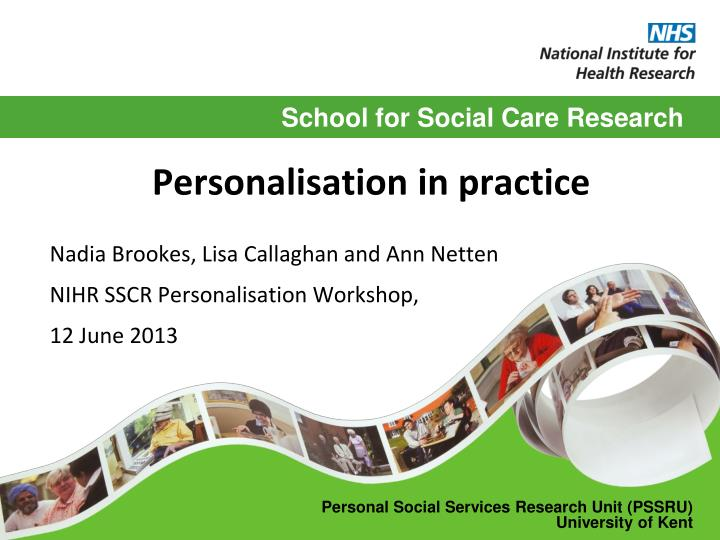 Personalisation in practice
