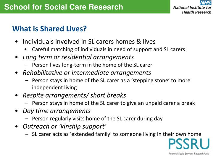 What is Shared Lives?