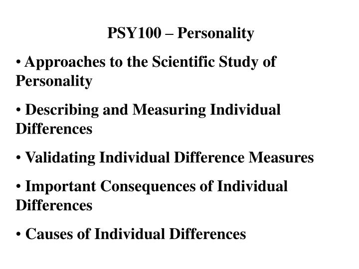 PSY100 – Personality