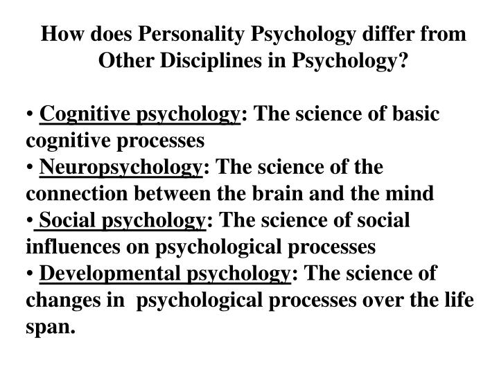 How does Personality Psychology differ from Other Disciplines in Psychology?