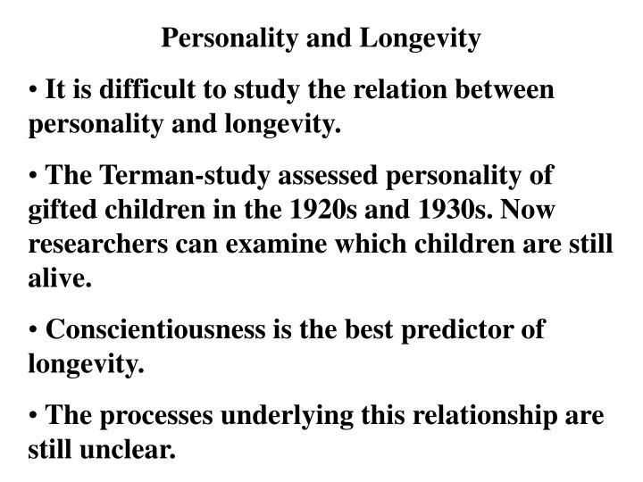 Personality and Longevity