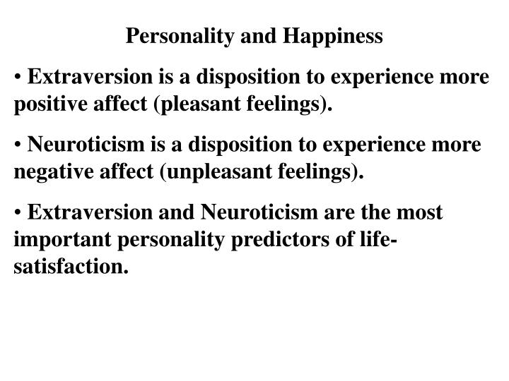 Personality and Happiness