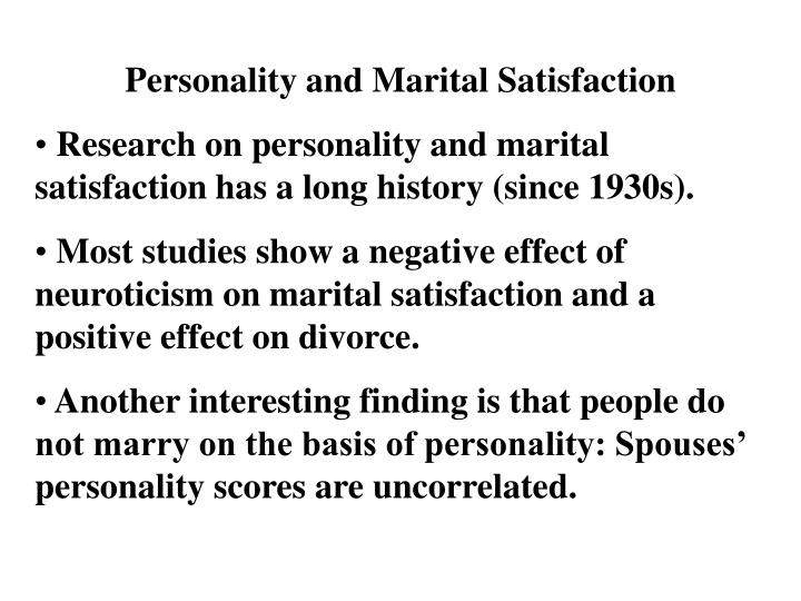 Personality and Marital Satisfaction
