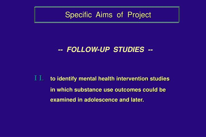 Specific  Aims  of  Project