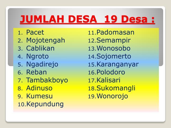 JUMLAH DESA  19