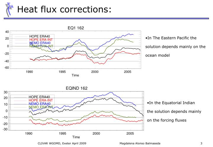 Heat flux corrections