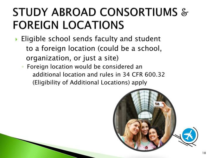STUDY ABROAD CONSORTIUMS