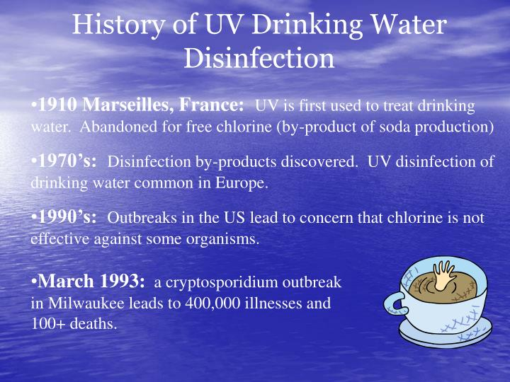 History of UV Drinking Water Disinfection