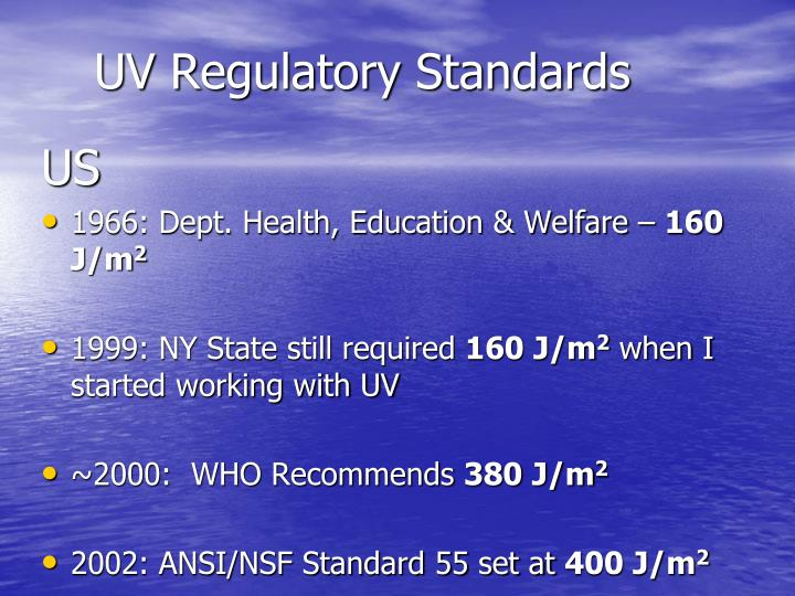 UV Regulatory Standards