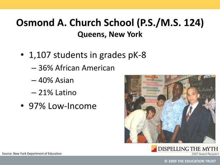 Osmond a church school p s m s 124 queens new york