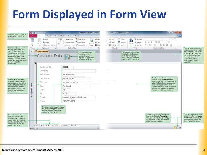 Form Displayed in Form View